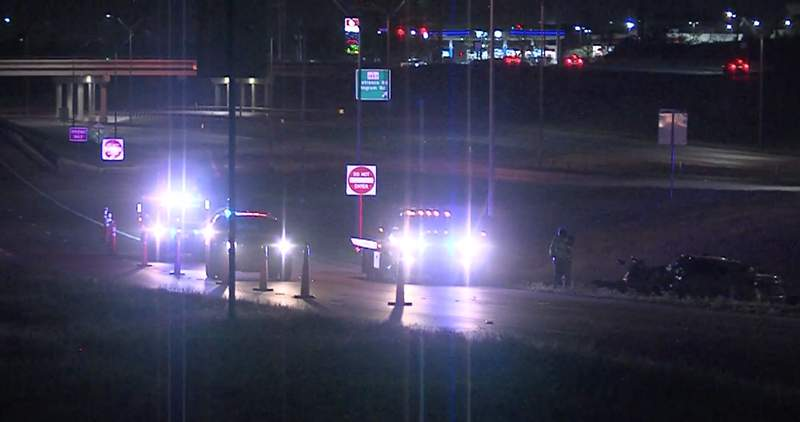 A man is hospitalized and in critical condition after an overnight crash on Highway 151, according to San Antonio police.