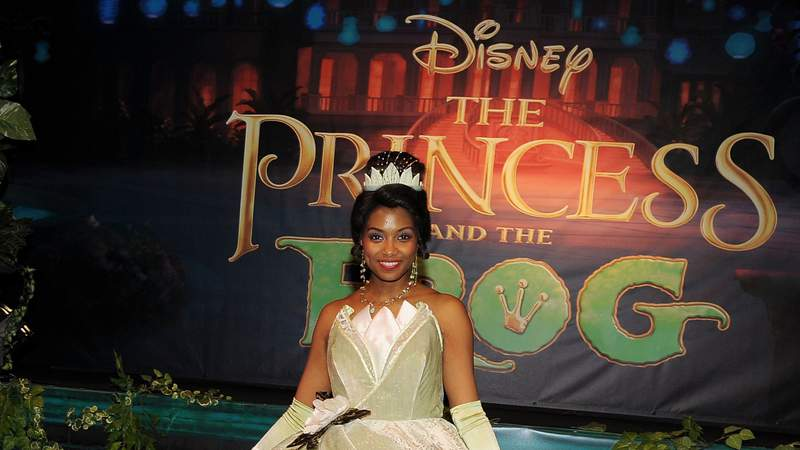 """""""Princess Tiana"""" attends the opening of """"The Princess and The Frog,"""" the ultimate Disney experience, at the Roseland Ballroom in 2009."""