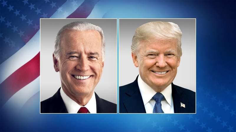 Democrat Joe Biden, Republican Donald Trump.