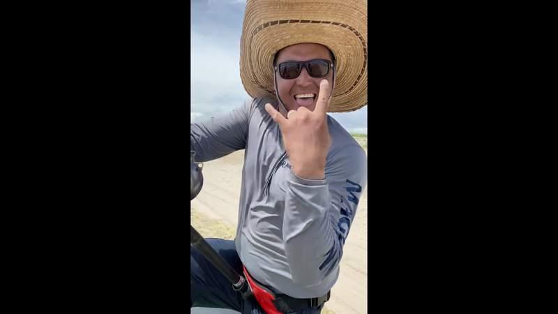 San Antonio man reels in 12-foot hammer head shark along Padre Island National Seashore