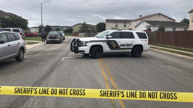 Deputies with the Bexar County Sheriff's Office respond to a shooting in the 9000 block of Amber Ledge.