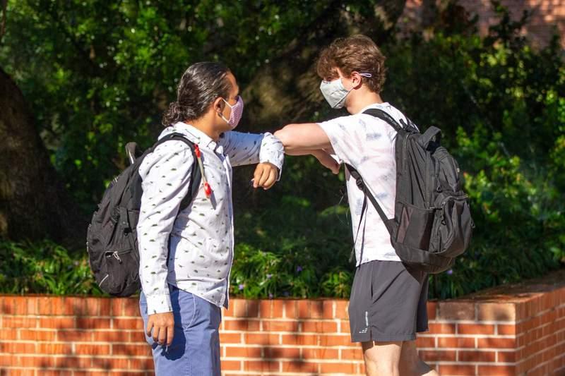 Students at Trinity University, image courtesy of Trinity University.