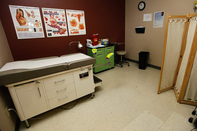 A medical clinic in  downtown Amarillo Monday.