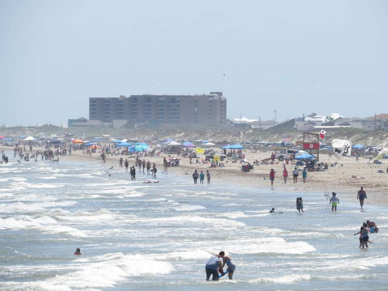 Photographer Neesy Tompkins captured images of the beach in Port Aransas, Texas on Saturday, May 2, 2020.