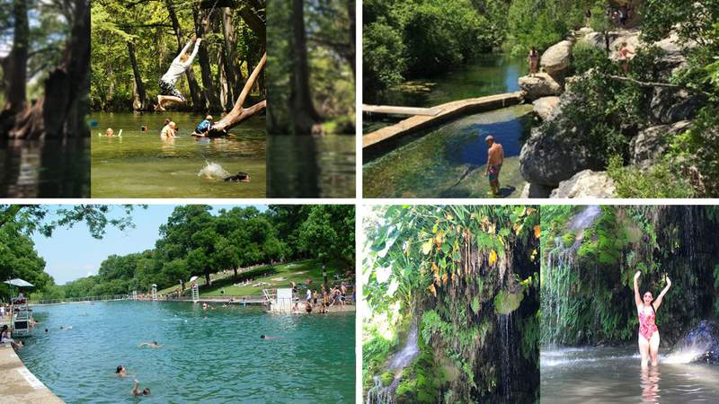 Places that are open for swimming near San Antonio and Austin.