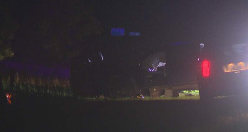 The crash happened around 9 p.m. Saturday at the intersection of Loop 1604 and Pleasanton Road.