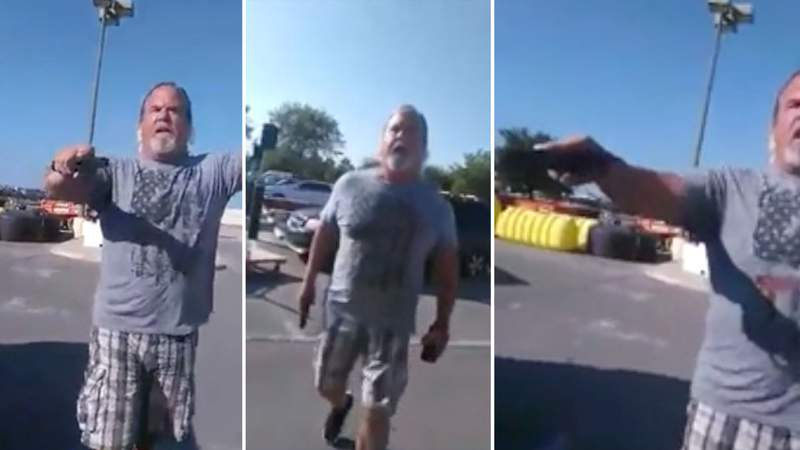 San Antonio Police Department retired detective John Schiller is shown during an encounter on Sept. 27 at the Home Depot parking lot located off Loop 1604 and Culebra road on the far West Side.