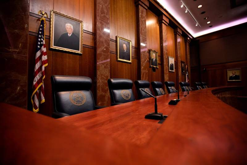 The Texas Supreme Court on Jan. 15, 2020.