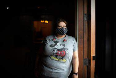Hispanic residents in the Houston region, including Valery Martinez and her family, have been hit hard by the coronavirus pandemic. (Brandon Thibodeaux for The Texas Tribune/ProPublica/NBC News)