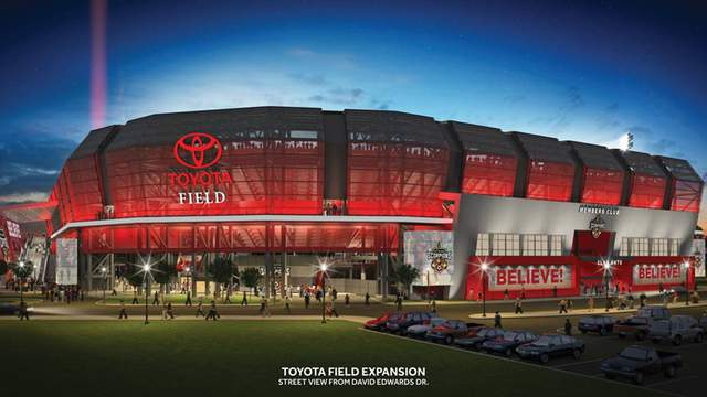 Image of Toyota Field expansion proposal courtesy of the San Antonio Scorpions.