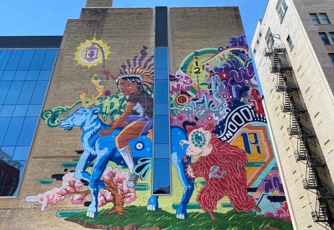 New massive mural debuts in downtown San Antonio.