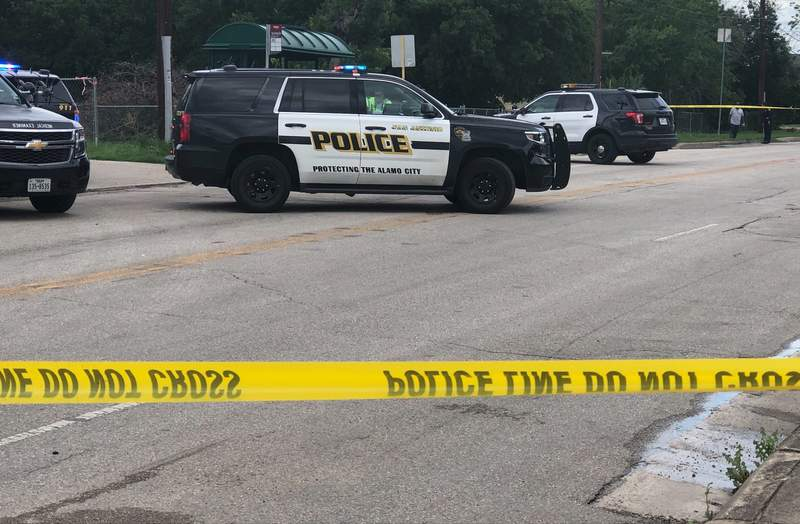 A person was killed while chasing a VIA bus at a bus stop at Commerce and Walters streets.