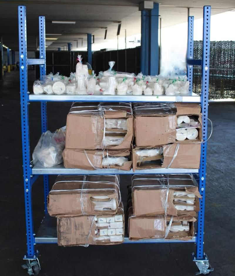 Methamphetamine seized at World Trade Bridge in Laredo, Tx. Image courtesy of CBP.