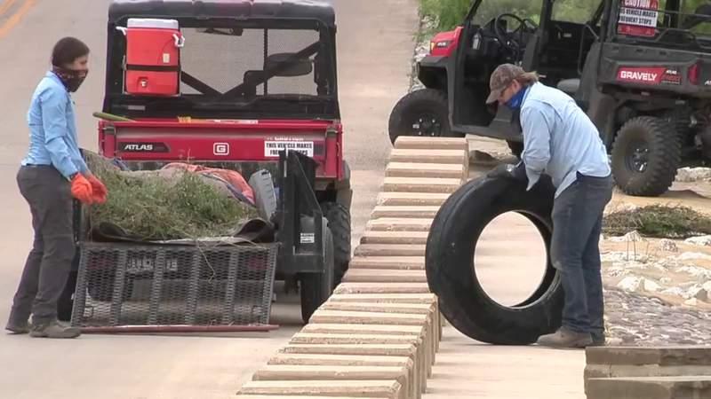 SARA crews encounter large amounts of trash along Mission Reach of River Walk