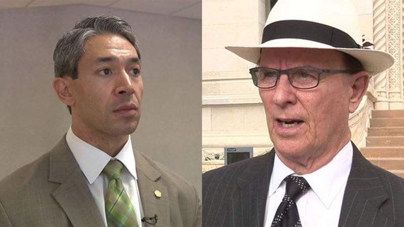 San Antonio Mayor Ron Nirenberg and Bexar County Judge Nelson Wolff
