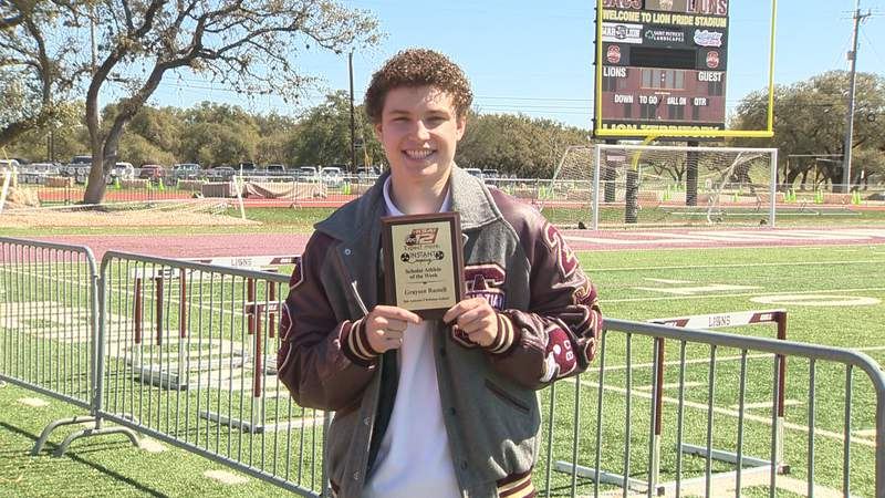 Grayson Russell of SACS is awarded the Scholar Athlete of the Week for Instant Replay.