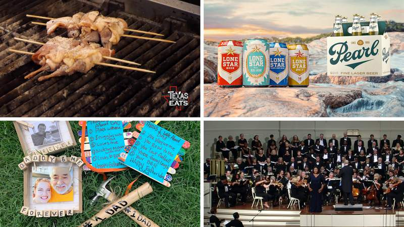 Clockwise from top left: Texas Eats preview, summer beer, Youth Cue, DIY gifts for dad