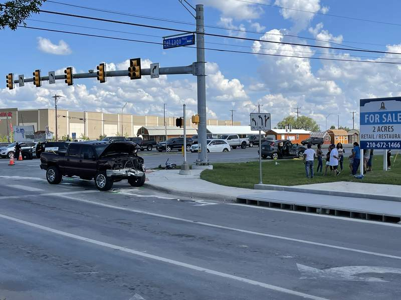 A 10-year-old girl is hospitalized and in critical condition following a two-vehicle crash on the South Side, according to San Antonio police.