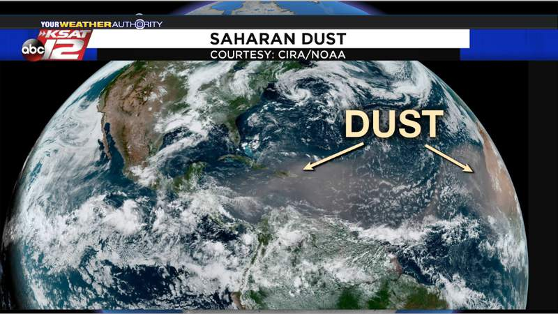 Summer months bring times of Saharan dust to Texas