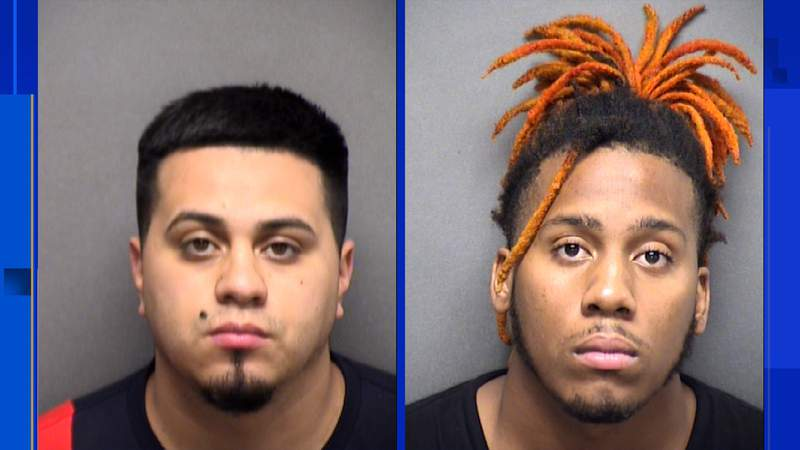 The Shavano Police Department said Andres Raul Borrego (left) and De Shawn Eugene Powell (right) have recently been charged in connection with the Jan. 31 incident on Manchester Way in the gated community of Bentley Manor. Images: Bexar County Jail