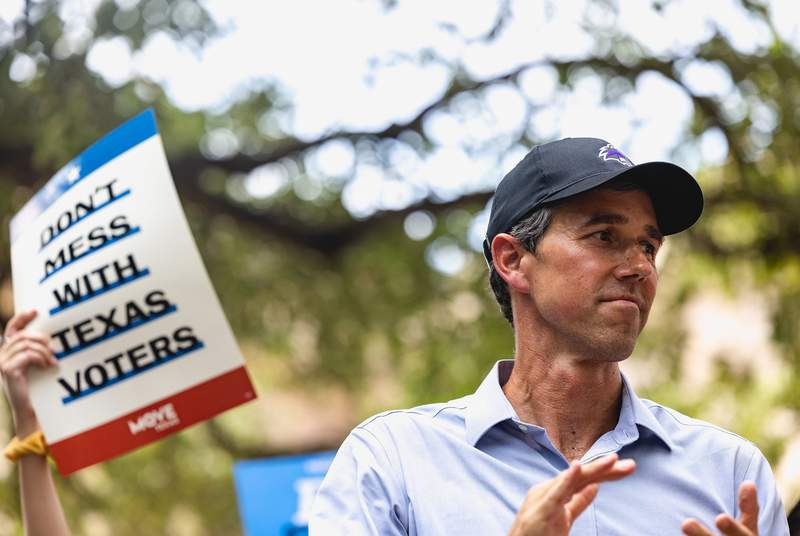 Former Democratic Presidential Candidate, Beto ORourke, spoke at the For the People Rally' at the Capitol in Austin in support of the expansion of voting rights. June 20, 2021.