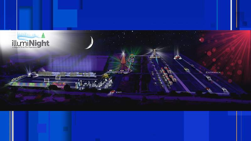 Illumi-Night: A Magical Drive-thru Experience will feature a mile-long trail that will snake around the AT&T Center grounds.