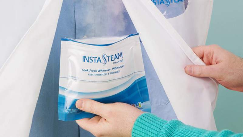 Say goodbye to wrinkled clothes when traveling with InstaSteam.