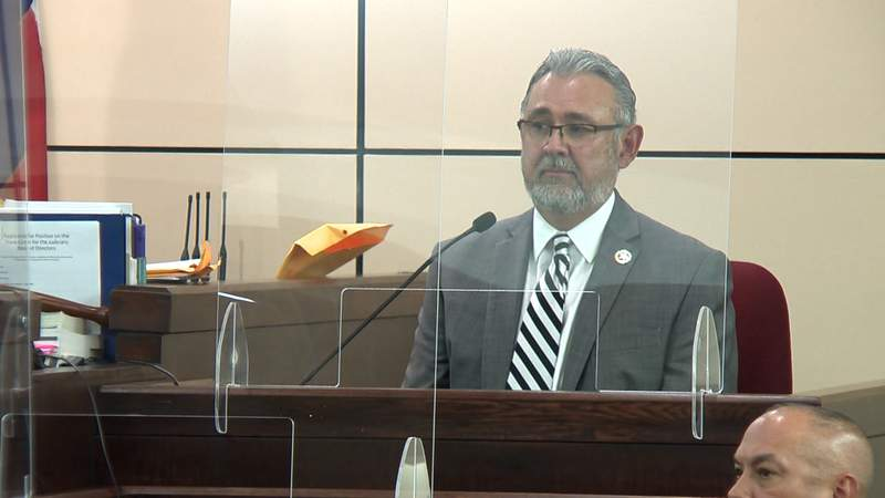 Bexar County District Attorney Joe Gonzales on the witness stand Aug. 5.