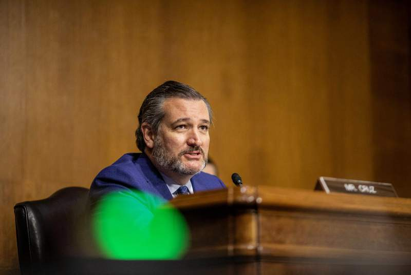 U.S. Sen. Ted Cruz voted in favor of the COVID-19 Hate Crimes Act, after initially opposing it, because of an amendment from a Republican colleague that passed. (Credit: Jason Andrew/Pool via REUTERS)