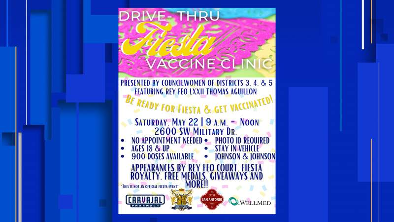Drive-thru vaccine clinic to be held Saturday, with entertainment as you wait