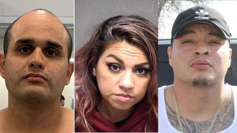 Steven Estrada, Vanessa Isaac and Justin Hernandez were arrested by SAPD in connection with a string of robberies.