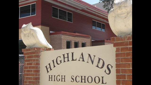 New Highlands HS academic building.