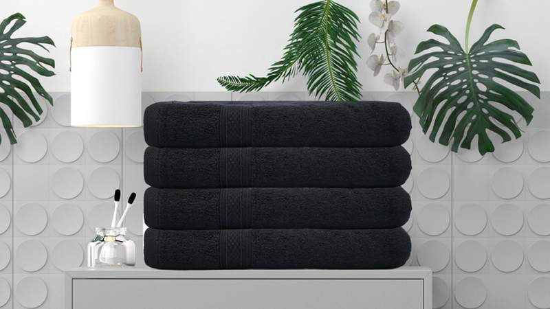 These durable and soft bath towels are perfect for the master bath to the guest bathroom.