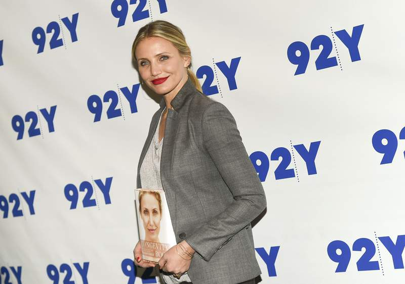 FILE - In this April 5, 2016, file photo, Actress Cameron Diaz arrives for her 92Y In Conversation with Rachael Ray in New York. Diaz is starting the new decade with a very important role: Mommy. The actress and her husband, Benji Madden, announced on Friday, jan. 3, 2020, the birth of a daughter they've called Raddix.  (Photo by Evan Agostini/Invision/AP, File)