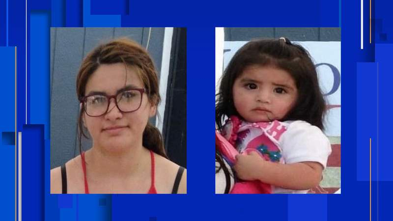 Family members reported the child and Kimberly Mata (left) missing to police early Friday morning. Both were last seen in the 2900 block of West Commerce Street.