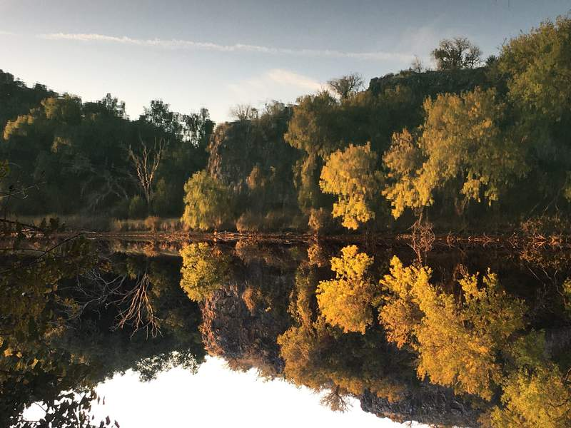 A photo of Colorado Bend State park taken in November 2019.