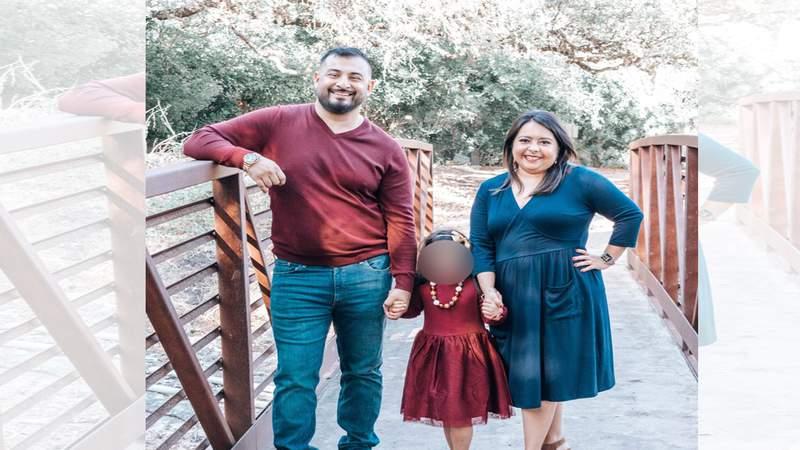 Digital Journalist Erica Hernandez, her husband and foster child