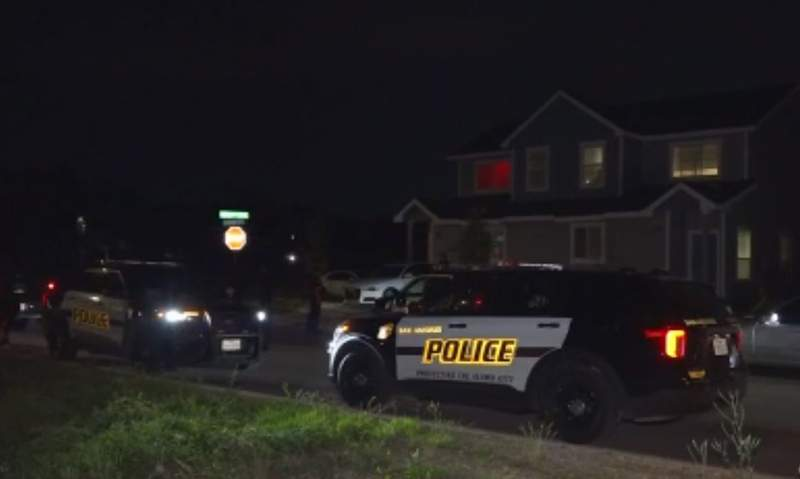 San Antonio police are searching for a gunman after he robbed a family of four at gunpoint in their own home overnight.