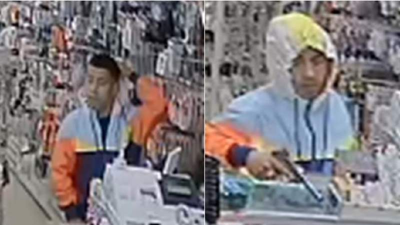 Man brandishes gun, fires shots at store during robbery attempt, police say