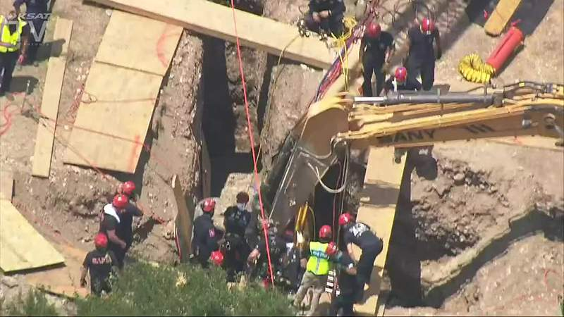 VIDEO: Emergency crews respond to trench collapse - clipped version