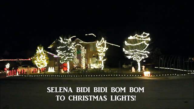 Boerne family syncs Christmas lights to Selena's Bidi Bidi Bom Bom