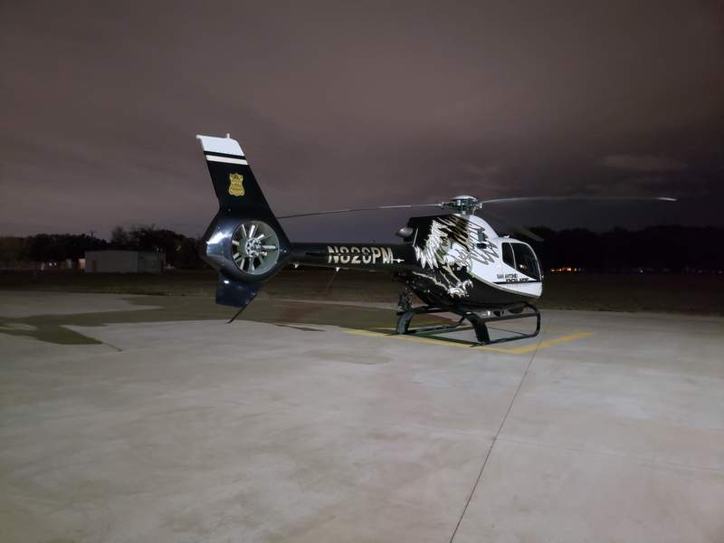 File photo - one of four helicopters that make up the E.A.G.L.E. unit prepares to take off from Stinson Municipal Airport.