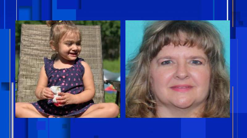 Aurora Lee Lopez, 2, was found safe after was taken by Sherry Lee McGill, 49, according to BCSO.