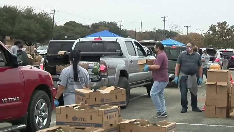 Food Bank distributes holiday meals to 1,500 households during 'Operation Turkey Drop'