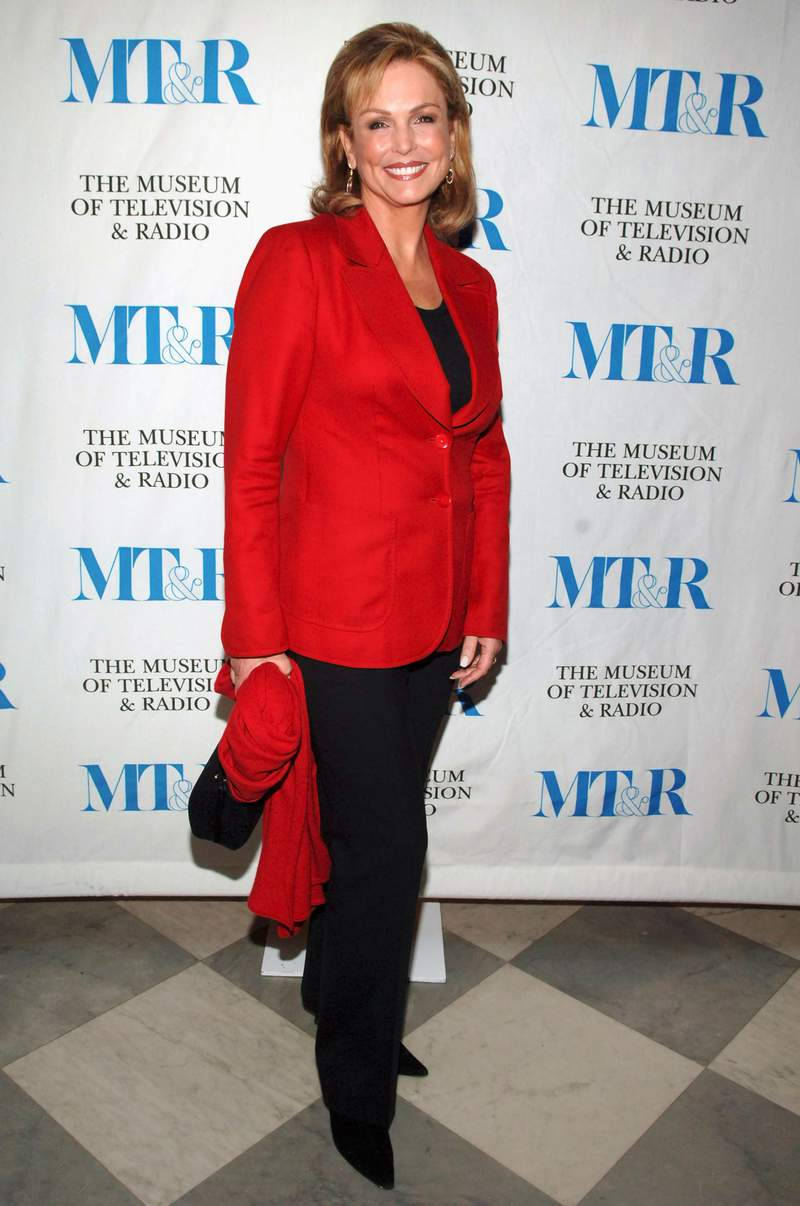 """NEW YORK - DECEMBER 01:  Television Sportscaster Phyllis George arrives at the launch party for """"She Made It: Women Creating Television and Radio""""  December 1, 2005 in New York City.  (Photo by Bryan Bedder/Getty Images)"""