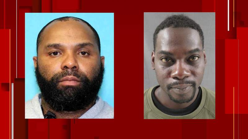 Andre Dupree Jack (left) and Atseko Factor (right) are wanted in connection with the armed robberies of three pharmacies in Seguin and Pleasanton.