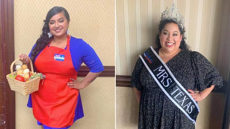 Janeskha Solis, Miss Texas Plus America 2021-2022, and Melissa Torres, Mrs. Texas Plus America 2021-2022. Images courtesy of Janeskha Solis and Melissa Torres.