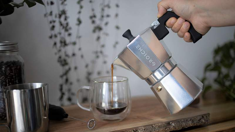 Bring the cafe experience straight to your home with the MILANO Stovetop Espresso Maker.