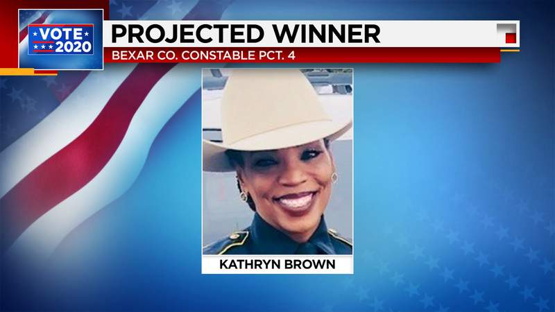 Kathryn Brown becomes first Black woman elected as Bexar County Constable.