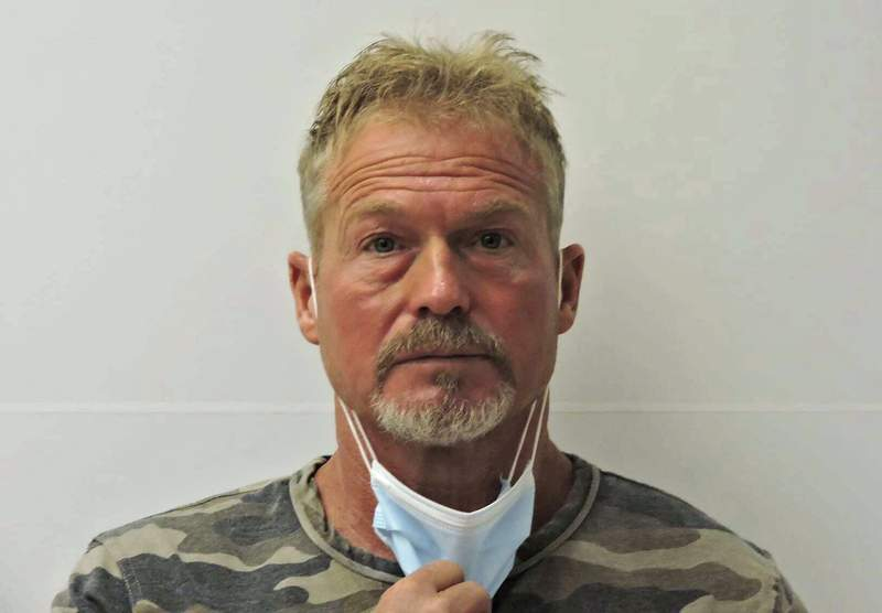 FILE - Barry Morphew, who is charged with first-degree murder and other crimes in the death of his wife, Suzanne Morphew, is shown in this undated photo provided by the Chaffee County (Colo.) Sheriff's Office. Morphew appeared in court Monday, Aug. 9, 2021, during the start of a four-day hearing to determine if there is enough evidence for him to stand trial. (Chaffee County Sheriff's Office via AP, File)